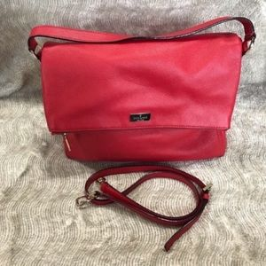 Kate Spade Pebbled Leather Crossbody Red EUC